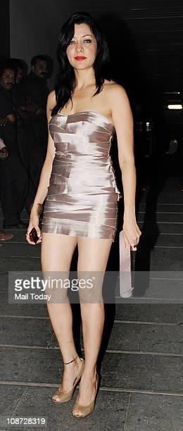 Aditi Govitrikar at Shilpa Shetty's bash at Royalty Mumbai on February 1 2011