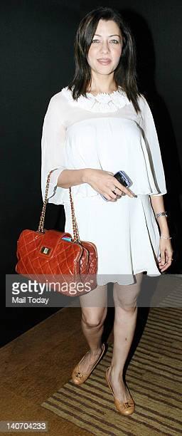 Aditi Govitrikar at the Lakme Fashion Week 2012 held in Mumbai