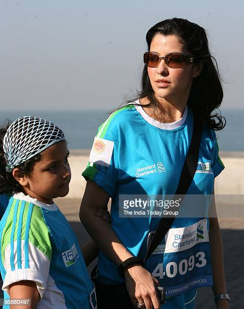 Aditi Govitrikar at the Mumbai Charted Marathon 2010 in Mumbai on January 17 2010