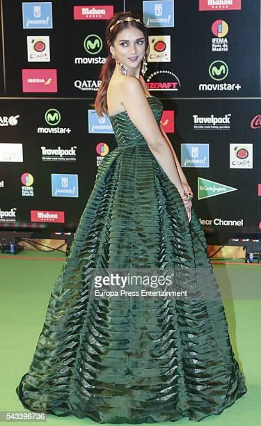 Aditi Rao Hydari attends IIFA Awards green carpet during the 17th edition of IIFA Awards the International Indian Film Academy Awards at Ifema on...