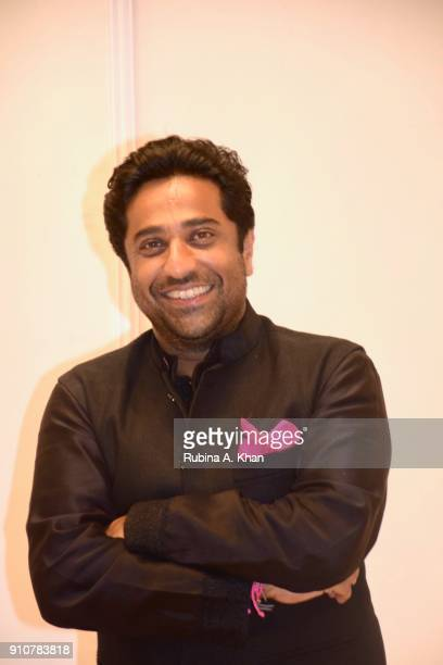Aditya Kilachand at Dilip De's Smartphone School Of Art Exhibit 'Celebration Of The Unexpected' where all the digital artworks he'd created on a...