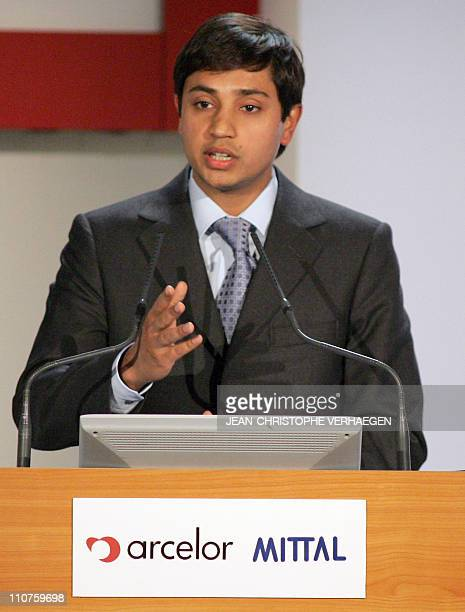 Aditya Mittal Chief Officer of Mittal Steel gives a press conference at Arcelor's Headquarters 26 June 2006 in LuxembourgArcelor accepted the merger...