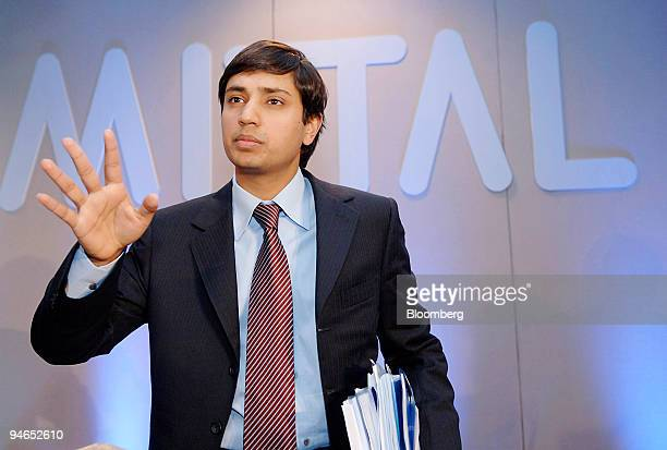 Aditya Mittal Mittal Steel Co chief financial officer and president speaks at a news conference following the company's AGM in Rotterdam The...