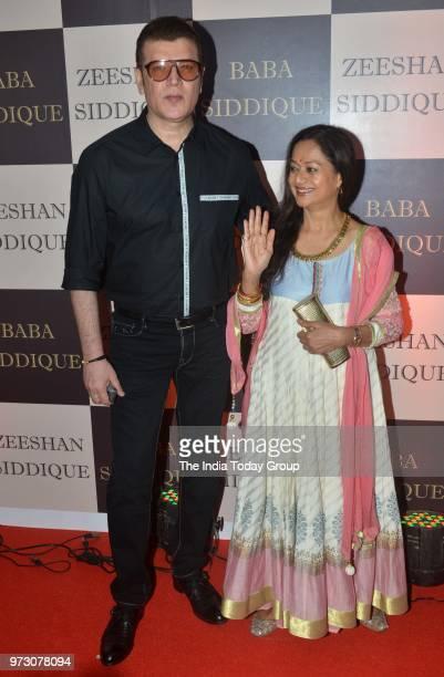 Aditya Pancholi and Zarina Wahab at Baba Siddiques Iftar party in Mumbai