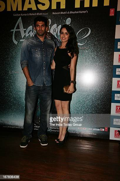 Aditya Roy Kapur and Shraddha Kapoor at the success party of Aashiqui 2 on 30th April 2013 in Mumbai