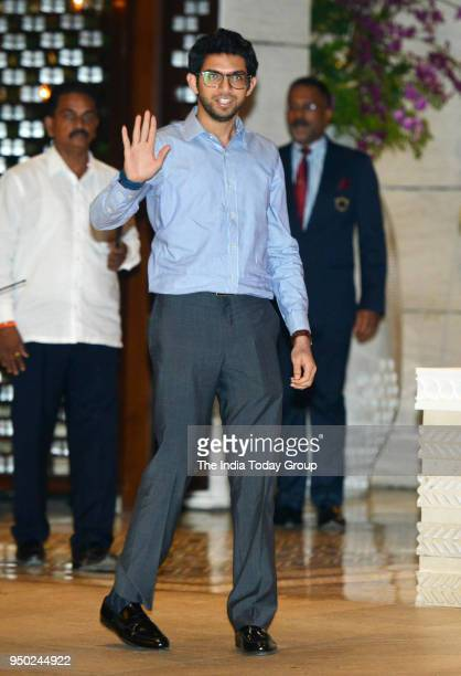 Aditya Thackeray during the dinner party hosted by Nita Ambani for Thomas Bach President of International Olympic Committee in Mumbai