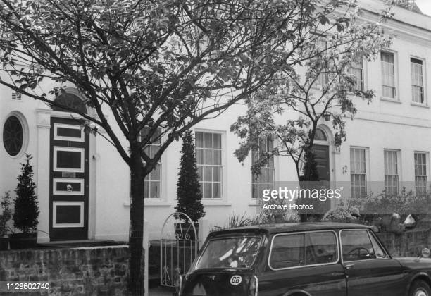 Adjacent terraced houses in Hampstead London bought by actress Elizabeth Taylor for herself and for her son Michael Howard Wilding circa 1973
