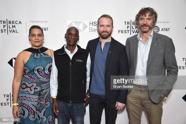 Adjany Costa Tumeletso Water Setlabosha Neil Gelinas and Steve Boyes attend the National Geographic premiere screening of Into the Okavango on April...