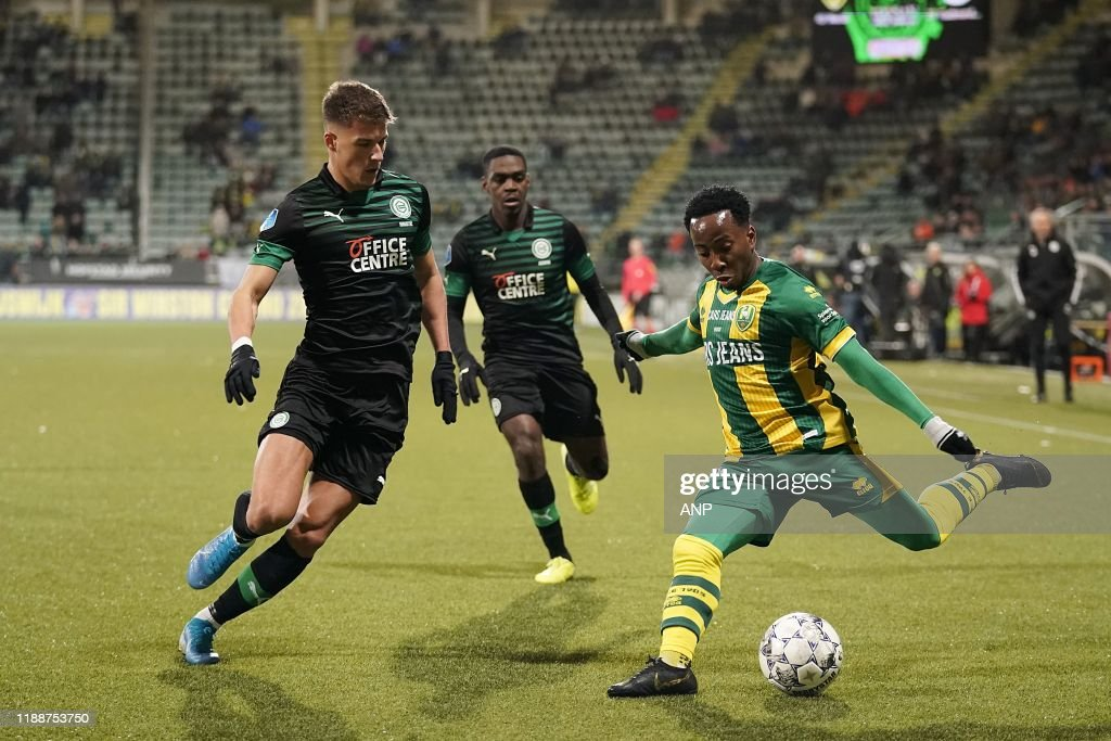 Adjin Hrustic Of Fc Groningen Elson Hooi Of Ado Den Haag During The News Photo Getty Images