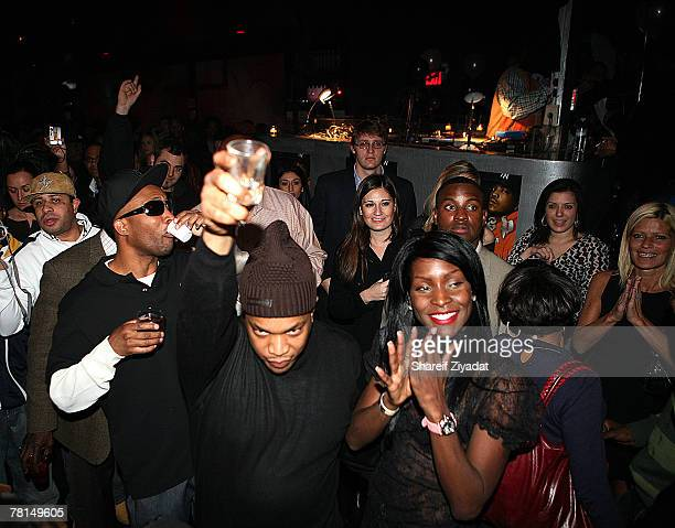 Adjua and Styles P attend Styles P's record release and surprise birthday party November 28 2007 at Stereo in New York City