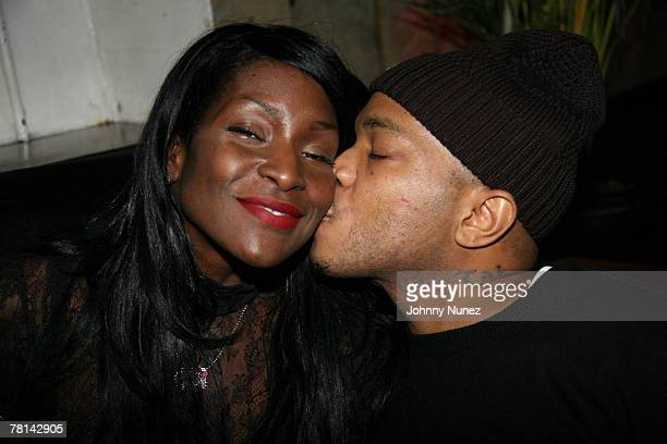 Adjua and Styles P attends Styles P's Surprise Birthday Party on November 28 2007 in New York City NY