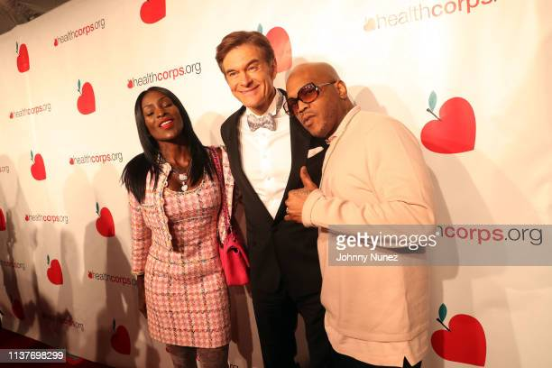Adjua Styles Dr Mehmet Oz and Styles P attend the 13th Annual HealthCorps Gala at Cipriani 25 Broadway on April 16 2019 in New York City
