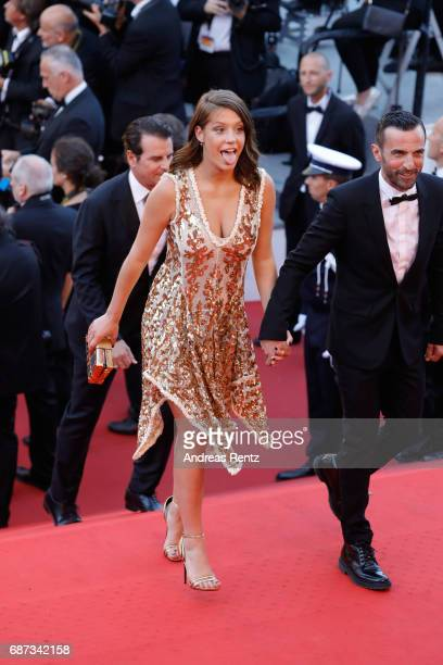 Adèle Exarchopoulos and Nicolas Ghesquiere attend the 70th Anniversary of the 70th annual Cannes Film Festival at Palais des Festivals on May 23 2017...