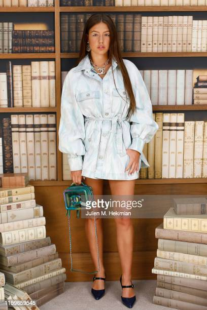 Adèle Exarchopoulos attends the Chanel photocall as part of Paris Fashion Week - Haute Couture Fall Winter 2020 at Grand Palais on July 02, 2019 in...