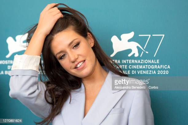 """Adèle Exarchopoulos attends the photocall of the movie """"Mandibules"""" at the 77th Venice Film Festival on September 05, 2020 in Venice, Italy."""