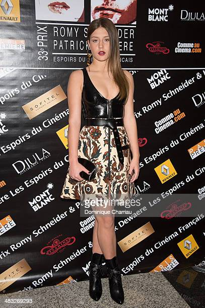 Adèle Exarchopoulos attends the Romy Schneider and Patrick Deweare awards at Hotel at Hotel Scribe on April 7 2014 in Paris France