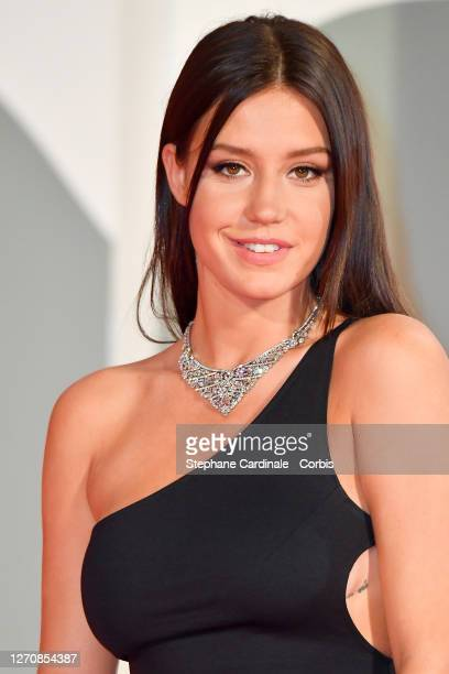 """Adèle Exarchopoulos walks the red carpet ahead of the movie """"Pieces of a woman"""" at the 77th Venice Film Festival on September 05, 2020 in Venice,..."""