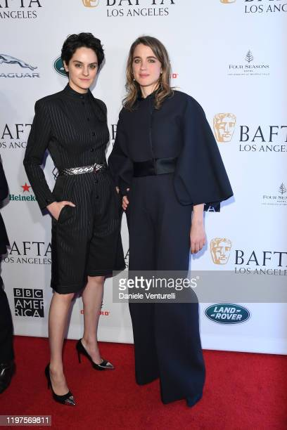 Adèle Haenel and Noémie Merlant attend The BAFTA Los Angeles Tea Party at Four Seasons Hotel Los Angeles at Beverly Hills on January 04, 2020 in Los...