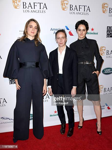 Adèle Haenel Céline Sciamma and Noémie Merlant attend The BAFTA Los Angeles Tea Party at Four Seasons Hotel Los Angeles at Beverly Hills on January...