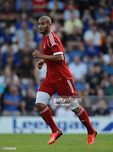 Adlene Guedioura of Nottingham Forest during the Pre Season Friendly match between Chesterfield and Nottingham Forest at Proact Stadium on July 16...
