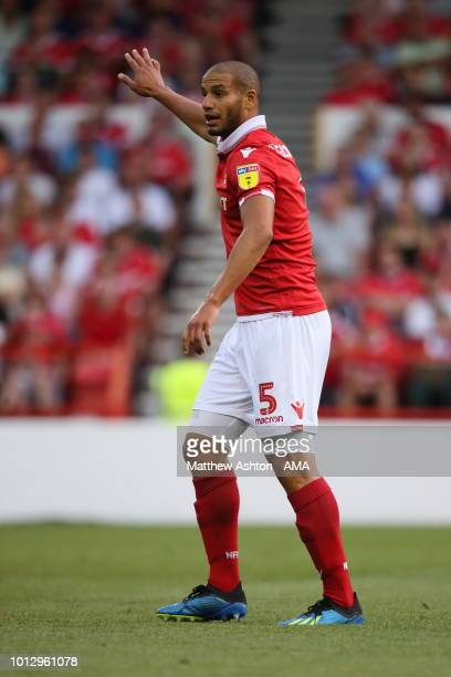 Adlene Guedioura of Nottingham Forest during the Sky Bet Championship match between Nottingham Forest v West Bromwich Albion at City Ground on August...