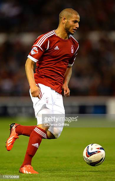 Adlene Guedioura of Nottingham Forest in action during the Capital One Cup First Round match between Nottingham Forest and Hartlepool United at City...