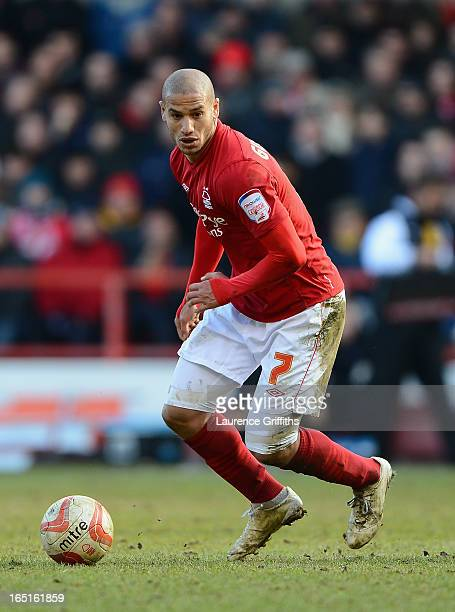 Adlene Guedioura of Nottingham Forest in action during the npower Championship match between Nottingham Forest and Brighton and Hove Albion at City...