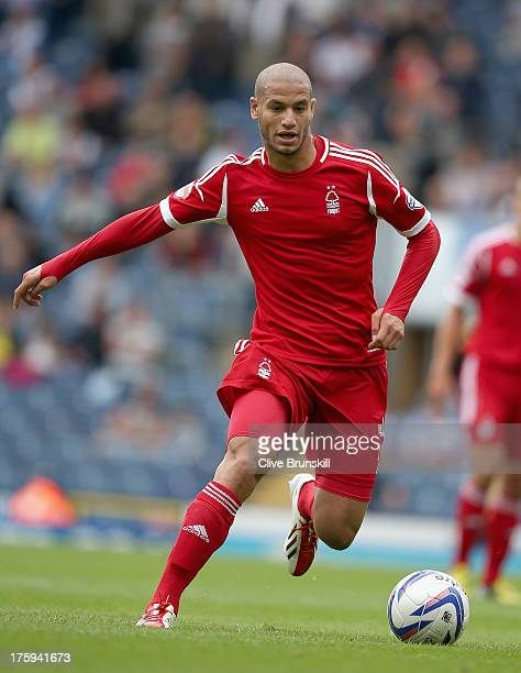 Adlene Guedioura of Nottingham Forest in action during the Sky Bet Championship match between Blackburn Rovers and Nottingham Forest at Ewood Park on...