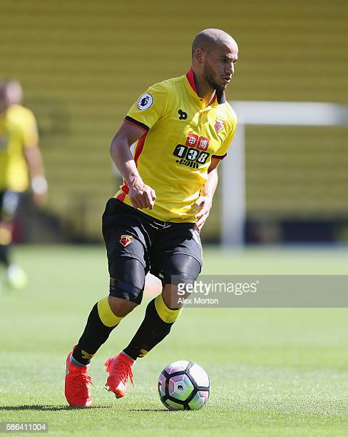 Adlene Guedioura of Wartford during the preseason friendly match between Watford and Lorient at Vicarage Road on August 6 2016 in Watford England