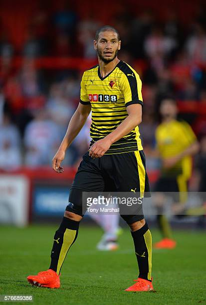 Adlene Guedioura of Watford during the PreSeason Friendly match between Stevenage and Watford at The Lamex Stadium on July 14 2016 in Stevenage...