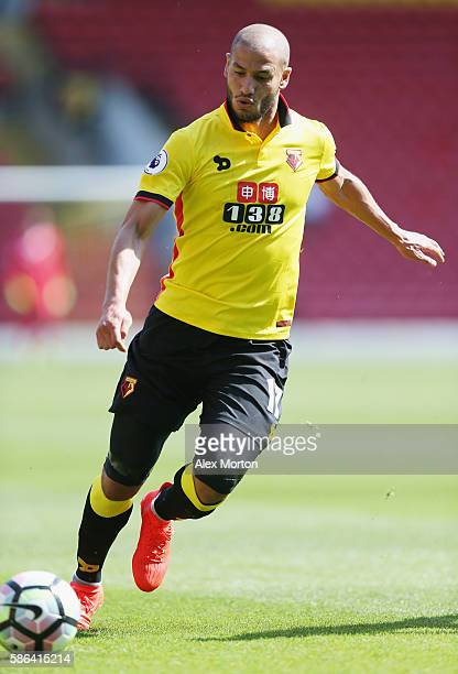 Adlene Guedioura of Watford during the preseason friendly match between Watford and Lorient at Vicarage Road on August 6 2016 in Watford England