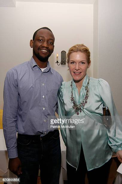 Adler Guerrier and Cecilia Wolfson attend Whitney Biennial Artists Party at Trata Estiatoria on March 8 2008 in New York City
