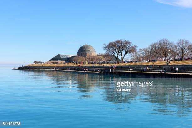 ミシガン湖、シカゴのアドラー ・ プラネタリウム