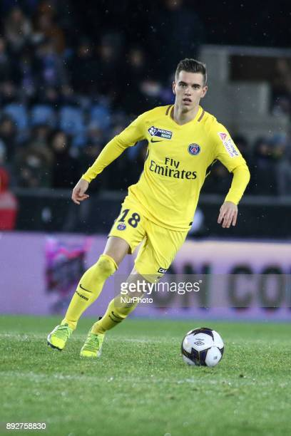 Adli Yacine 18 of PSG during the french League Cup match Round of 16 between Strasbourg and Paris Saint Germain on December 13 2017 in Strasbourg...