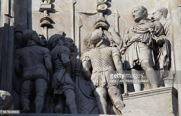Adlocutio basrelief Arch of Constantine 315 AD Rome Italy Roman civilisation 4th century AD