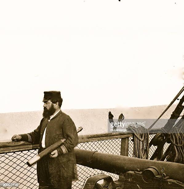 Adm David D Porter Lt Commander on deck of US Steamship Fulton