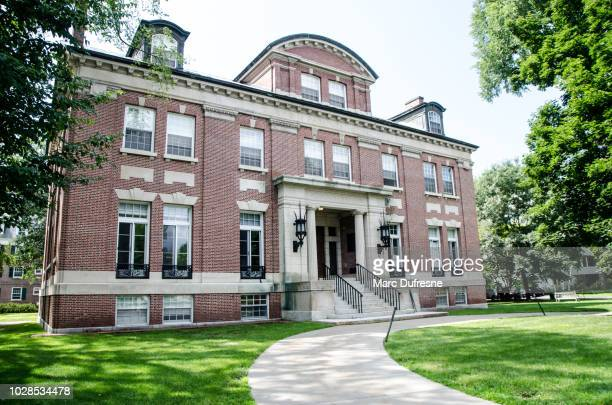 administration building of dartmouth college in  hanover new hampshire during summer day - hanover new hampshire stock pictures, royalty-free photos & images
