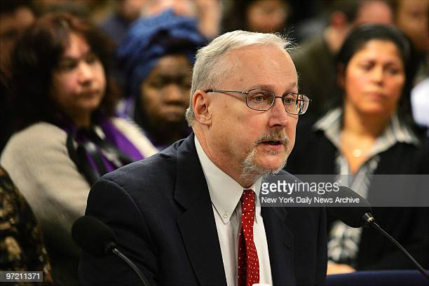 Administration for Children's Services Commissioner John Mattingly testifies before the State Assembly at 250 Broadway during the first of several...