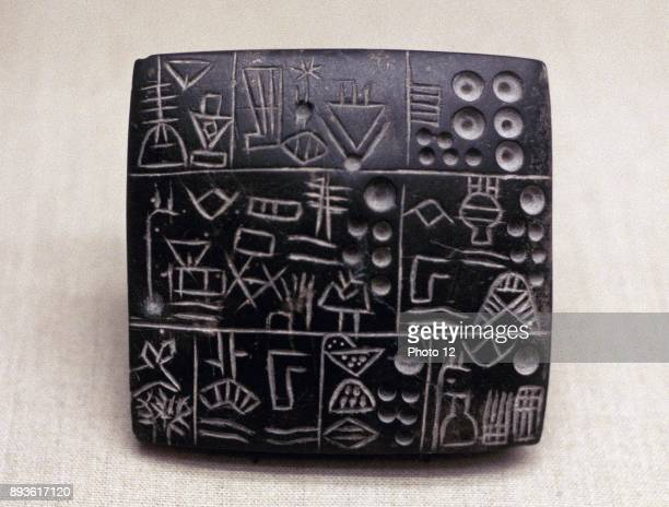 Administrative tablet of clay Mesopotamian/Sumerian 31002900 BC Los Angeles County Museum of Art