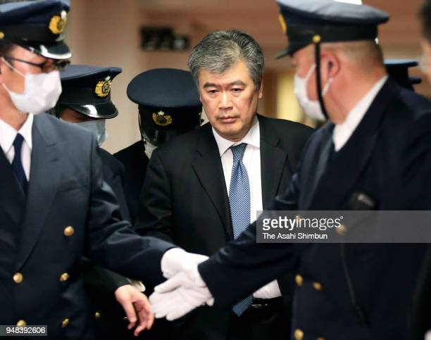 Administrative Vice Finance Minister Junichi Fukuda leaves the Finance Ministry on April 16 2018 in Tokyo Japan The ministry released the results of...