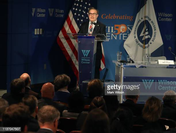 Administrator Andrew Wheeler speaks during a discussion on implementing the US global water strategy at the Woodrow Wilson Center on March 20 2019 in...