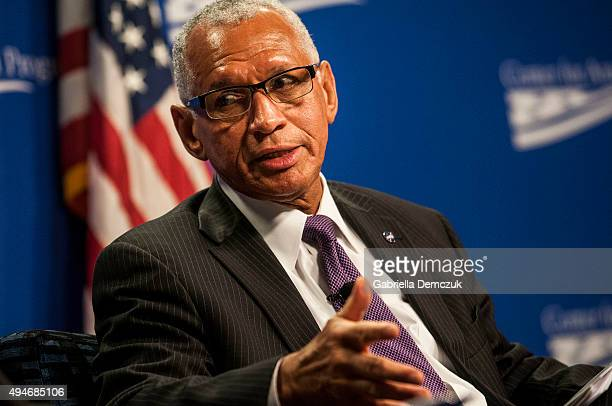 Administrator Charles Bolden speaks at the 'Human Space Exploration The Next Steps' forum hosted by The Center for American Progress on October 28...
