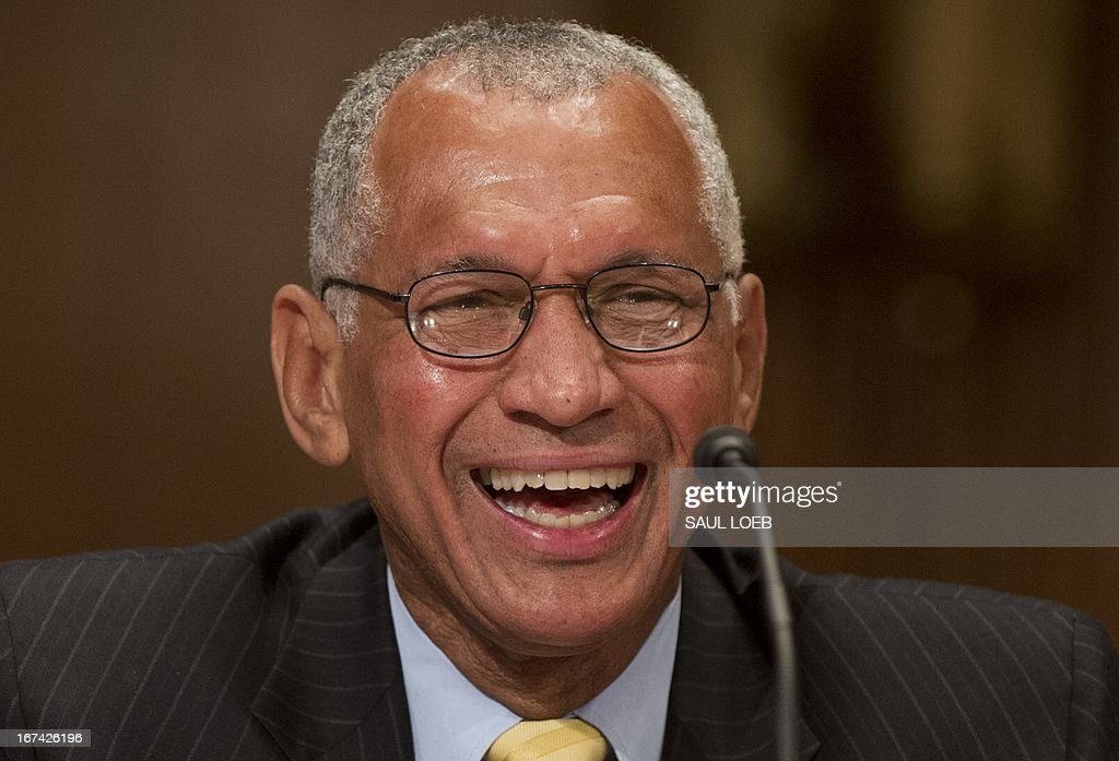 Administrator Charles Bolden testifies on the fiscal year 2014 budget during a US Senate Appropriations Commerce, Justice, Science Subcommittee hearing on Capitol Hill in Washington, DC, on April 25, 2013. AFP PHOTO / Saul LOEB