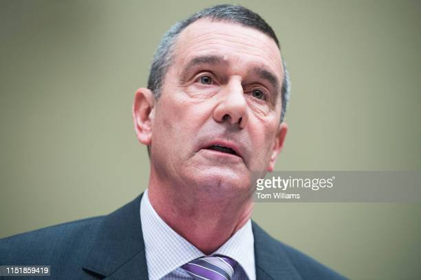 TSA administrator David Pekoske testifies during a House Oversight and Reform Committee hearing in Rayburn Building on security operations at the...