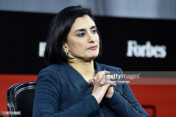Administrator for the Centers of Medicare Medicade Services Seema Verma attends 2019 Forbes Healthcare Summit at the Jazz at Lincoln Center on...