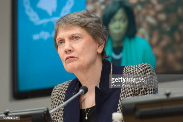 Administrator Helen Clark speaks with the press United Nations SecretaryGeneral Antonio Guterres was joined by UN Development Programme Administrator...