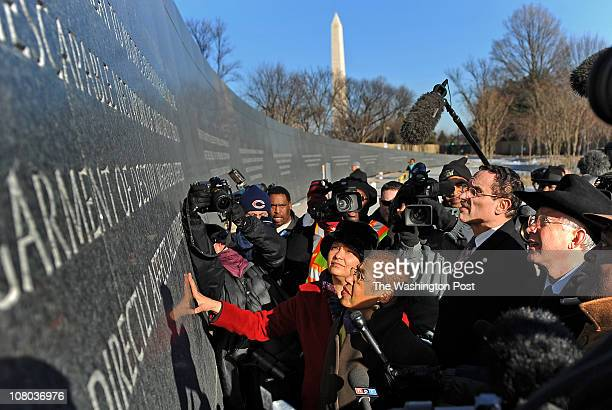 Administrator Lisa Jackson center top Del Eleanor Holmes Norton center bottom Washington DC Mayor Vincent Gray second right and US Dept of the...
