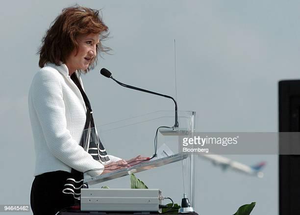 Administrator Marion Blakey speaks at the opening ceremony for the new fifth runway at HartsfieldJackson Atlanta International Airport in Atlanta...