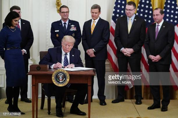 Administrator of the Centers for Medicare and Medicaid Services Seema Verma US Secretary of Veterans Affairs Robert Wilkie General Joseph Lengyel...