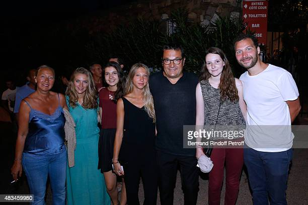 Administrator of the Fund investments 21 Centrale Partners, Didier Quillot with his wife and their children attend the Alex Lutz Show during the 31th...